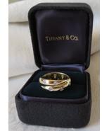 Tiffany & Co. Etoile 18k Gold Platinum & Diamond Twist Ring~Size 5.75~Bo... - $1,175.00
