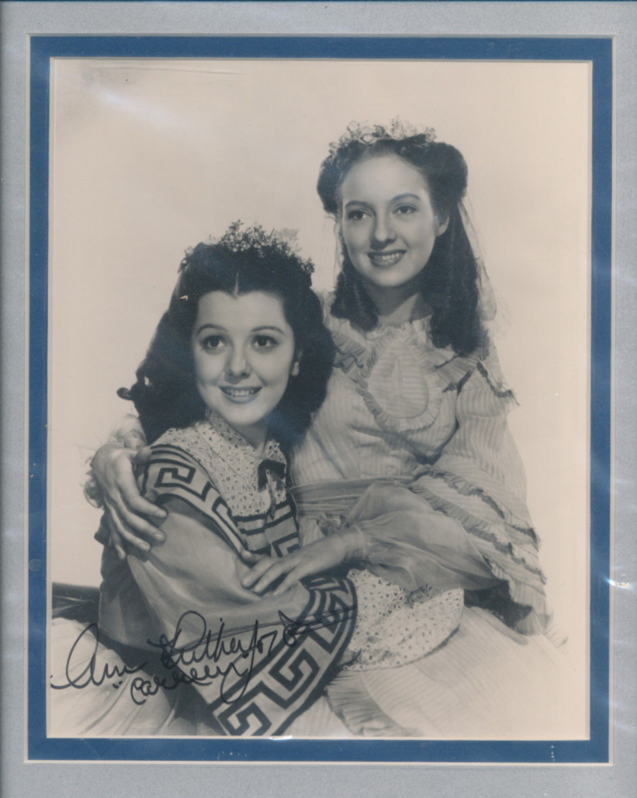Primary image for Ann Rutherford signed photo. Beautifully double matted. Gone With The Wind.Nice!