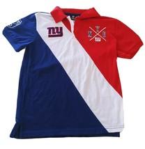 New York Giants NFL Men's Diagonal Stripe Polo Embroidered Shirt Size: Medium - $24.15