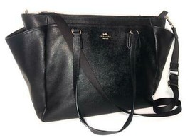Coach #F57786 Black Multifunction Crossgrain Leather Diaper Baby Bag - $89.00
