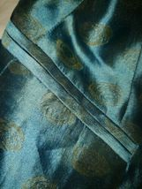 Women's Giorgio Armani Le Collezioni Silk Skirt Suit Teal w/ Gold Size 6 Jacket image 6