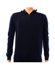 $145 Polo Ralph Lauren Mens Merino Wool Mock Neck 1/2 Zip Sweater, Navy, M. - $79.19
