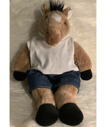 Original Build A Bear Brown & White Soft HORSE With Outfit 18 Inch Plush - $22.71