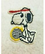 "Vintage Snoopy w/ Tennis Racket Patch 1 3/8"" - $8.42"