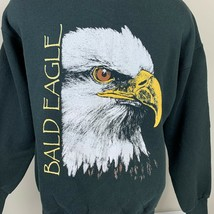 Vintage American Bald Eagle Sweatshirt Crewneck USA 80s 90s Medium - $29.99