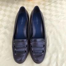 Aerosoles Size 8.5 Crinkle in Time Brown Leather Pumps Comfort Career Shoes -KK - $24.74