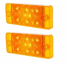 United Pacific Front LED Amber Side Marker Lamp Set 1970-1977 Ford Bronco - $78.19