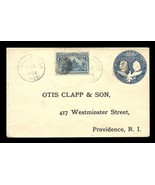 US Scott #230 on U348 Columbus Cover 1894 Mass PM Fancy Cancels Prov Rec'd. - $18.99