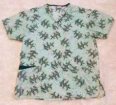 Dickies Women's Scrub Top Green Floral ▪Size Medium - $5.86