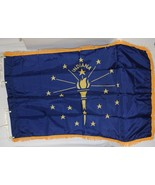 Valley Forge Indiana Flag Pole Hem Yellow Fringe Three By Five Feet - $24.99