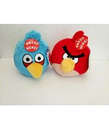 Angry Birds Plush Lot NO SOUND Blue Jay Red Tags 2010 Commonwealth - $20.28