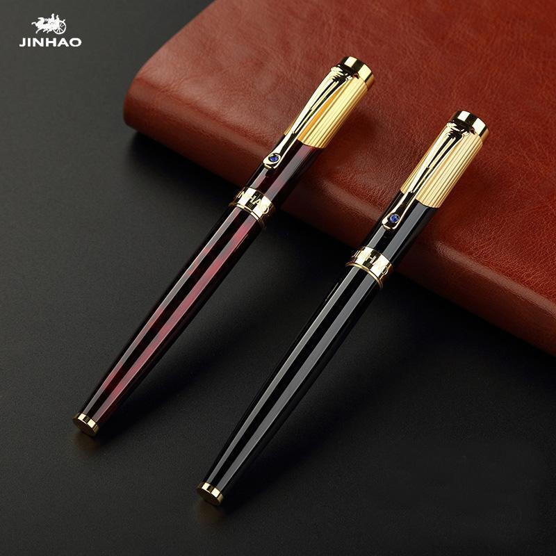 Jinhao 9009 luxury gold rollerball pen with 044ae85a cf7e 4184 8708 5f23644de1c9