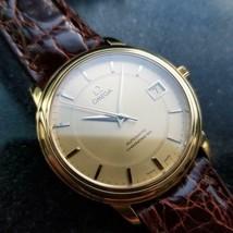 Mens Omega 35mm 18K Gold Date Automatic Dress Watch, c.2000s Swiss LV486BRN - $3,864.78