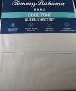 Tommy Bahama Cool Zone Cotton Cloud Gray Sheet Set Queen - $77.00