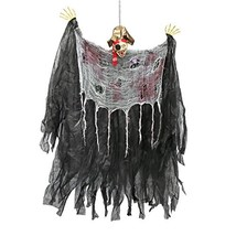 Halloween Haunters 4 Foot Hanging Scary Pirate with Eye Patch Prop Decor... - €14,07 EUR