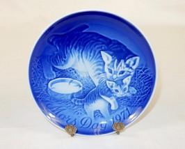 """Bing & Grondahl 6"""" Mother's Day Plate, Mors Dag 1971, Mama Cat & Kitten ... - $24.45"""