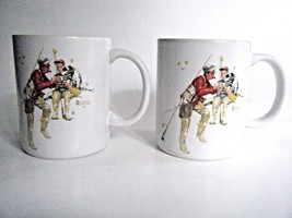 Norman Rockwell Trout Dinner Coffee Mug Cup 1987 Museum Collection Set O... - $19.75