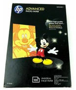 "1 NEW HP Advanced 4x6"" Glossy Photo Paper 100 Ct Inkjet 2010 Mickey Mous... - $15.68"