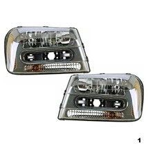 Fits 02-09 Chevy Trailblazer & 02-06 EXT w/full-width grill bar L&R Head... - $103.90
