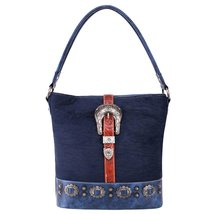 Montana West Buckle Collection Concealed Carry Bag Blue Brown image 1