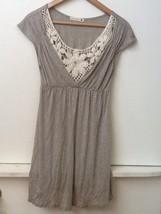 Love Culture Women's Gray Tunic Top Crochet Inset size M Medium - $9.95
