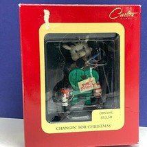 Zebra Christmas ornament Carlton Changin for wet paint holiday NIB box figurine - $13.50