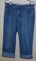 DKNY Capri Jeans Womens 10 Stretch Blue Jean Denim Jean Cuffed Capris Vi... - $14.80