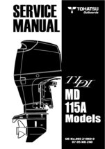TOHATSU Outboard TLDI MD 115A Service Repair Manual MD115A MD115 PDF - $13.99