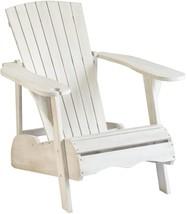 Safavieh Outdoor Living Vista Antiqued White Acacia Wood Adirondack Chair - $211.53