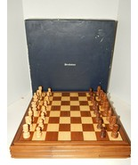 """Brookstone Large Wooden Chess Set 16"""" x 16"""" Board 3"""" King Complete w/ Box - $70.08"""