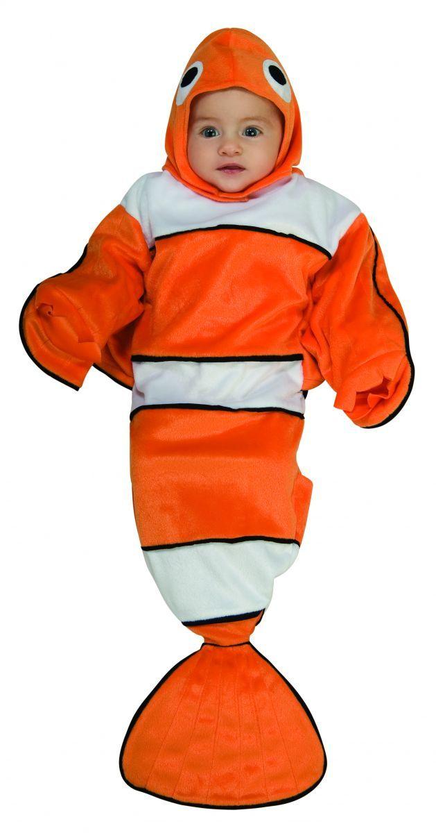 Newborn Lil Guppy Bunting Halloween Costume Size 0-9 Months