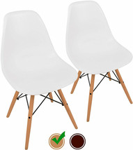 Modern Style Easy Assemble 2 Pieces Classic Comfy White Sturdy Chair - $129.68