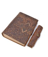 Homeater Notebook Diary Handmade Real Leather Journal Travelers Notebook... - $39.15