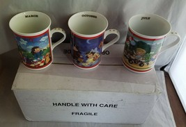 Campbells Soup Kids Collector Mugs Danbury Mint Set of 3 March Oct July ... - $23.15