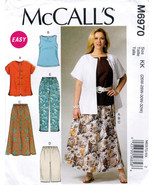 McCall's M6970 Womens Shirt Skirt Top Pants Sewing Pattern Sizes 26W-28W... - $11.75