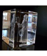 Crystal Paperweights, 3D Images, Santa of Old, by Jaffa, New in Box - $65.00