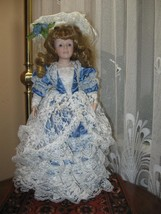 Vintage Porcelain Blonde Beatrice Princess Doll Europe 45 CM - $85.82