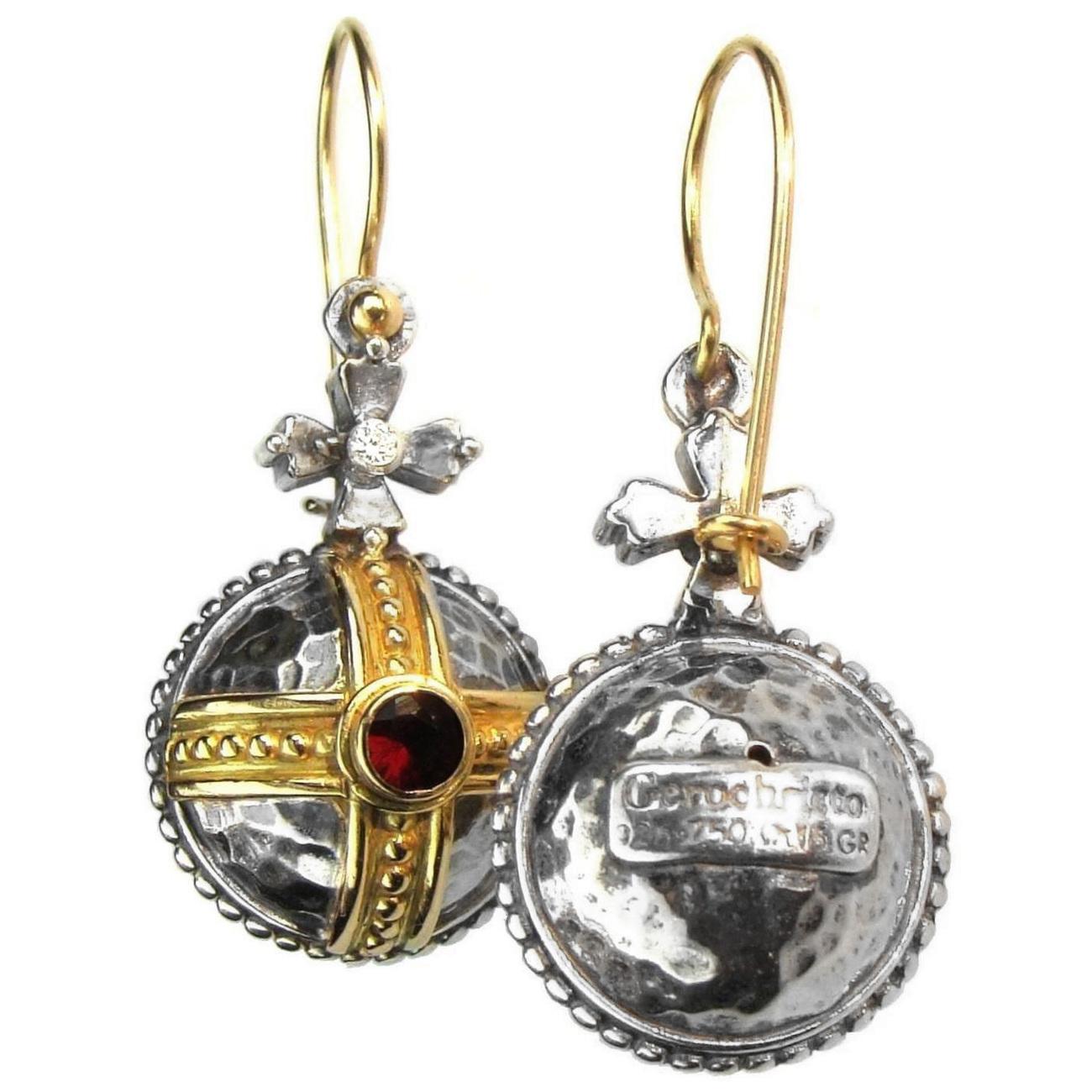02003063 gerochristo 3063 silver gold byzantine medieval earrings 8