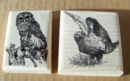 Lot of 2 Brand New Mounted Rubber Stamps - OWL LOT - $9.99