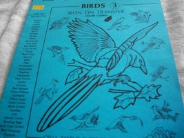 Birds 3 Iron On Transfers - $6.00