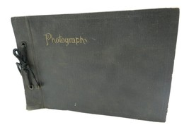 Antique Photographic Album Photos About 150 Pictures Pre-1940  - $70.00