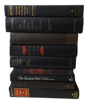 Decorative Book Lot BLACK Foot Vintage Books RANDOM Mixed Lot Wedding Decor - $33.25