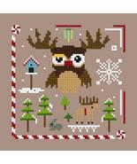 Owl Christmas Ornie 4 PDFcross stitch chart Helga Mandl Designs - $5.00