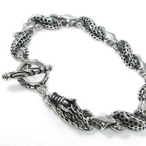 "Stainless Steel Dragon Link Bracelet 10mm 8.25"" - $25.00"