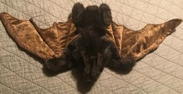 """Bat Brown Plush Soft Large Hand Puppet Folkmanis 26"""" Movable Wing Span Vampire - $19.79"""