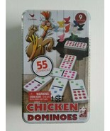 Cardinal Chicken Dominoes 1 Set 9 Chickens 55 Color Dot Dominoes New Sea... - $34.53