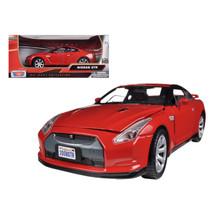 Nissan GTR R35 Red 1/24 Diecast Model Car by Motormax 73384r - $31.10