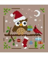 Owl Christmas Ornie 3 PDF cross stitch chart Helga Mandl Designs - $5.00