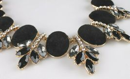 I.N.C. Gold-Tone Faux Velvet-Covered Multi-Stone Crystal Statement Necklace 18 image 3