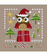 Owl Christmas Ornie 2 PDF cross stitch chart Helga Mandl Designs - $5.00